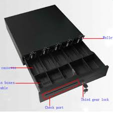 Cash Register Drawer Box 5 Bill Coin Tray Compatible Works w/POS Printers RJ11