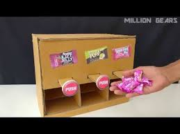 How To Make Candy Vending Machine At Home Gorgeous How To Make Candy Vending Machine At Home DIY Candy Dispenser