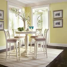 Charmant White Round Pub Table And Chairs Black Wood Kitchen Inch