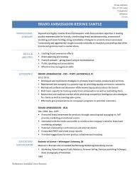 brand ambassador resume samples tips and templates online brand ambassador resume