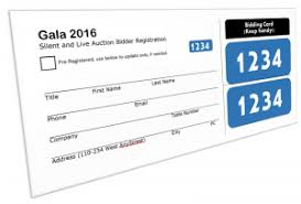 Auction Registration Form Template Silent Auction Bidder Registration Card Template Free Download