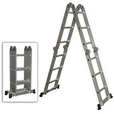 aluminium step ladder. Multi Purpose Aluminum Ladder Folding Step Scaffold Extendable Heavy Duty Aluminium