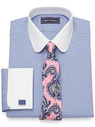 Paul Fredrick Size Chart Paul Fredrick Mens Cotton Textured Pattern French Cuff Dress Shirt