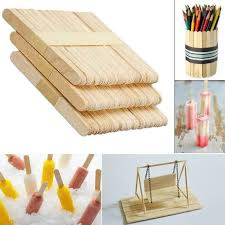 50pcs ice cream stick cake craft wooden diy popsicle stick original timber stick 5 5 of 12