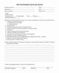 How To Write Up A Written Warning For An Employee Employee Written Warning Template Lovely Formal Write Up Template