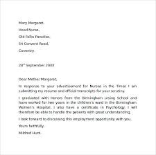 Sample Cover Letter For Job Resumes Application Letter For Employment Sample Chapters Of A