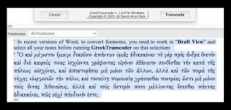 Greektranscoder For Microsoft Word
