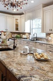 An Espresso Glaze Adds Character To The White Perimeter Cabinets And  Contributes To The Old