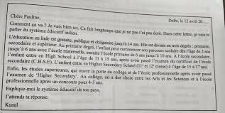 french education system letter on indian education system in french language