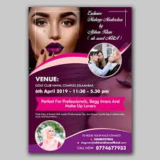Elegant Playful Hair And Beauty Flyer Design For A Company