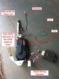 aftermarket power antenna wiring diagram images antenna wiring how to wire an aftermarket power antenna into the factory