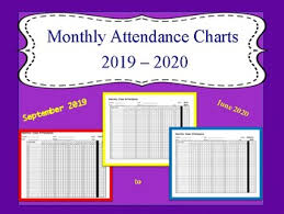 Attendance Chart Monthly Attendance Chart 2019 2020