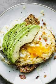 favorite avocado toast with egg