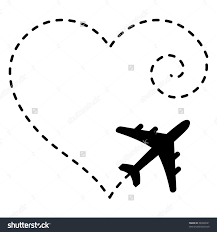 Airplane Drawing Illustration Of Airplane Drawing A Heart Shape In The Sky Crafty