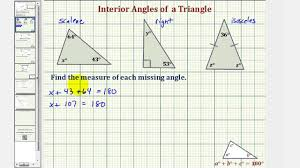 Interior Angles Chart Ex Find The Measure Of An Interior Angle Of A Triangle