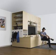 Below: Ori can free up space in micro apartments, creating more usable and  functional space (image courtesy or Ori Systems).