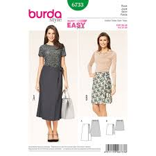 Wrap Skirt Pattern Stunning Misses Wrap Skirt Burda Sewing Pattern No 48 Size 4848 Sew