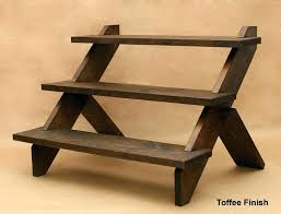 3 tier wooden stand 3 tiered display stands lovely idea table top display shelves creative ideas