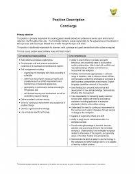 Concierge Job Description Resume Jd Templates Hotel Concierge Job Description Template Prepossessing 2