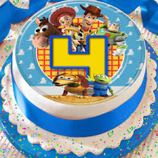 Toy Story Happy Birthday Age 4 Precut Edible 75 Inch Cake Topper