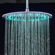 large 16 round rainfall shower head led colors top spray head replacement no arm for