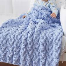 Bernat Baby Blanket Yarn Patterns Mesmerizing Bernat Shadow Cable Baby Blanket Pattern Yarnspirations