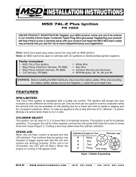 msd 7222 7al 2 ignition control installation user manual 16 pages