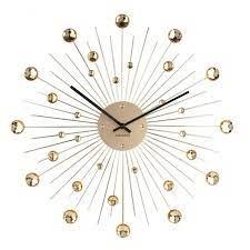 gold wall clock sunburst clock