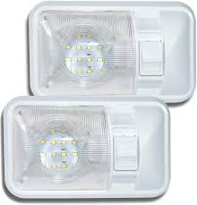 Amazon Rv Interior Lights Leisure Led 2 Pack 12v Led Rv Ceiling Dome Light Rv Interior Lighting For Trailer Camper With Switch Single Dome 280lm