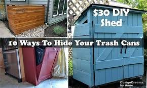 hide garbage cans creative ways to hide outdoor garbage cans