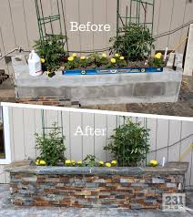 Diy Planters 231 Designs Diy Slate Ledge Stone Planter Boxes Projects To Try