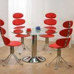 unique dining chairs adorable unusual dining chairs with red color contemporary stylish and round table glass top metal base chair unusual dining chairs