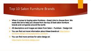 top brands of furniture. top 10 salon furniture brands of
