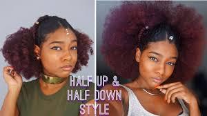 Natural Black Summer Hairstyles Slick Back Half Up Half Down