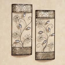 extravagant fl metal wall art decoration ideas flower teal contemporary design stunning silver flowers additional