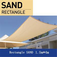 rectangle sand 1 5 4m 280gsm shade sail sun heavy heat resistant outdoor shading
