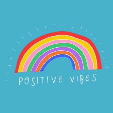 Positive Rainbow Vibes Illustrated By Stacie Swift Print