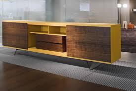 Low Glass Cabinet Low Filing Cabinet Wood Veneer Metal Glass Aliante Estel