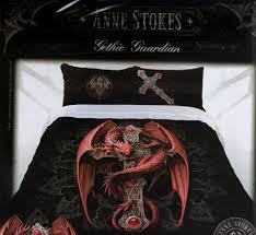 anne stokes bedding black unicorn quilt cover set gothic gigantic double doona pillow cases queen size