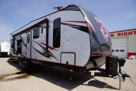 new 2018 stryker 2912 travel trailer toy hauler with small slide out