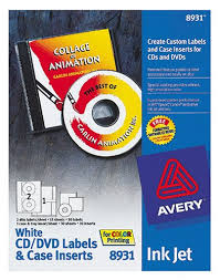 Avery Cd Labels Avery 8931 Inkjet Labels Cd And Dvd With Case Inserts 30 Sheets