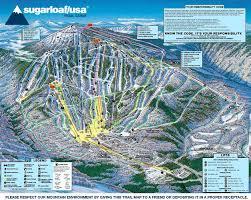 sugarloaf trail map  new england ski map database