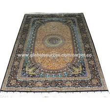 china yellow silk carpet antique persian rugs