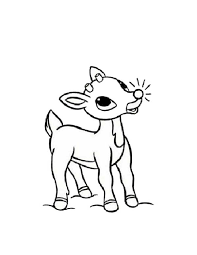 Small Picture Rudolph the Reindeer Has Glowing Red Nosed Coloring Page Color Luna