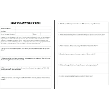 How To Create An Employee Evaluation Form Employee Evaluation Form Templates Free Staff Template