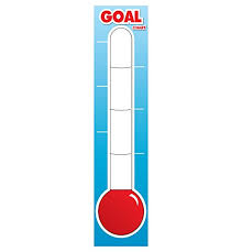 Goal Board Dry Erase Goal Setting Thermometer Poster Fundraising