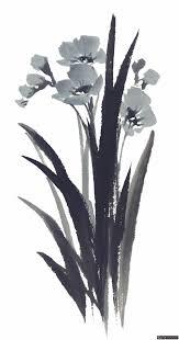 20张国画水墨兰花高清素材兰花花朵国画花卉水墨画花卉素材写意花卉