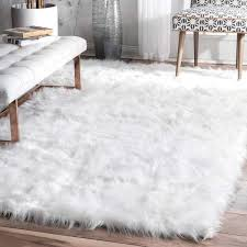 amazing big white fluffy rug for nuloom solid cloud white faux flokati sheepskin soft and