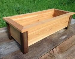 raised cedar planter box. Craftsman Style Cedar Planter Box Herb Flower Raised Bed Intended
