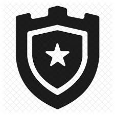 free shield badge icon of glyph style